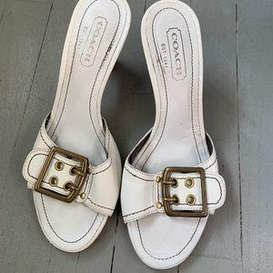 Coach heel sandals